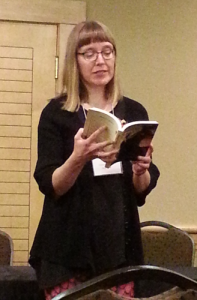 Sharon Plumb reading from Draco's Child a When Words Collide 2015