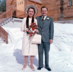 Barbara and Bill on their real wedding day in 1961