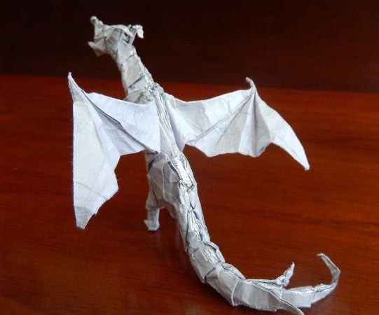Origami dragon made by my nephew BR